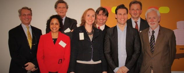 Van links naar rechts en van boven naar onder: Joost Wiebenga, Donald Kalff, Joop Remmé, Arjen Tillema, Sujatha Iyer, Linda Slot – Hoving, Gerke Berenschot en Paul Arlman