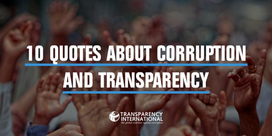 Citaten Over Vrede : Inspirerende citaten over corruptie en transparantie in het